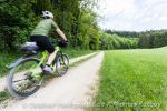 Herrlich grüne Entschleunigungsspur