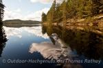 Idyllische Ruhe und keine Menschenseele im Naturreservat Glaskogen