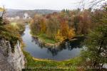 Blick vom Amalienfelsen hinunter auf die Donaufschleifen