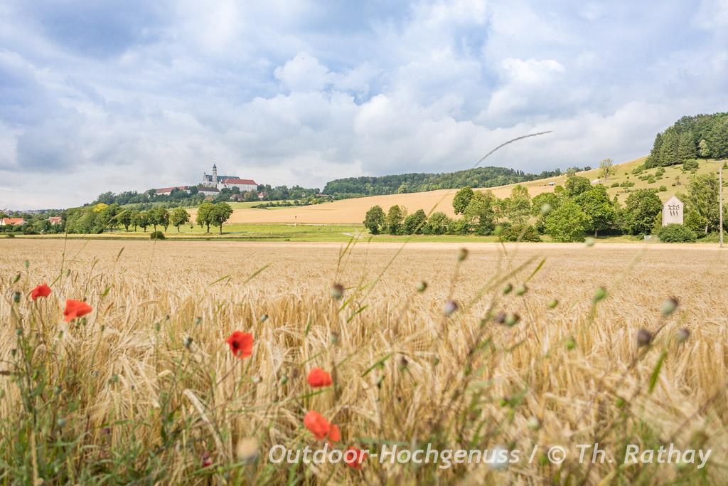 Auch entlang der Schwäbischen Alb führt die Radtour durch den Geopark Ries