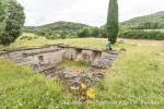 Römische Ausgrabung auf dem Geopark Ries Radweg