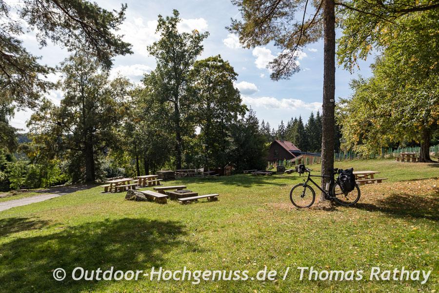 Rastplatz im Wald bei Gernsbach