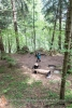 Moderne Sitzgruppen im Wald
