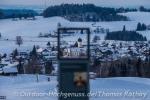 Gezielter Blick auf die Kirche in Oberreute