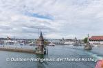 Konstanzer Hafen vom See aus.