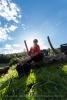 Der Barfusspfad in Tieringen ist ca. 900 Meter lang.