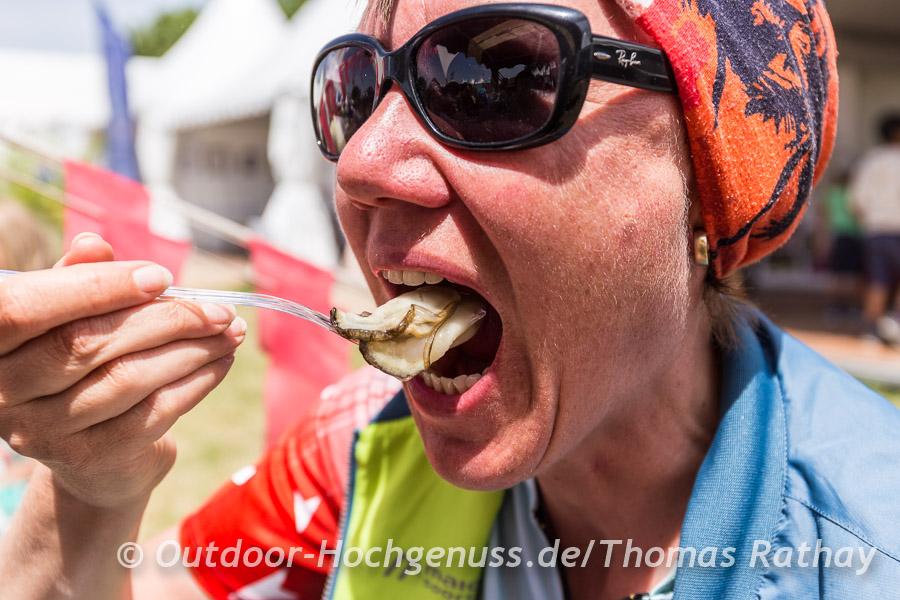 Nur für Mutige: Austernkostprobe in Port-St.-Louis