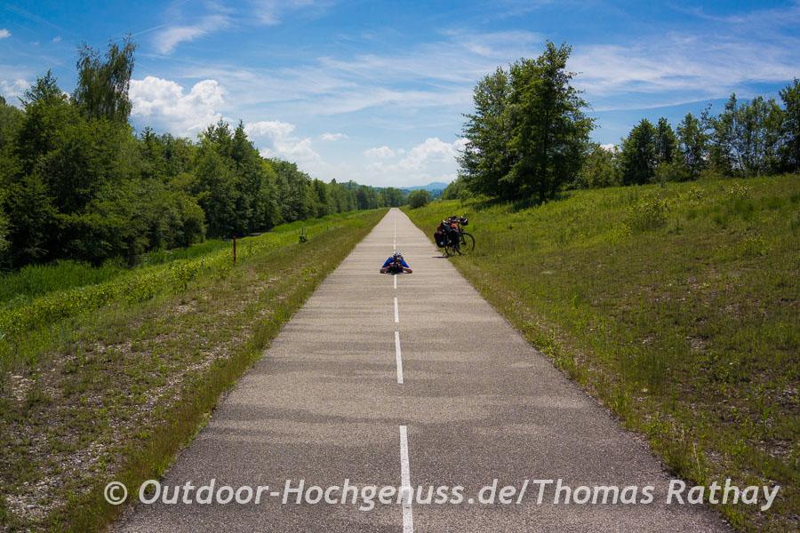 Perfekter Radweg zum Niederlegen