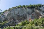Nah dran an den Kalksteinfelsen in La Balme