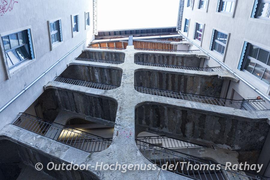 Erinnern an alte Geheimgänge, die Traboules in Lyon
