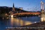 In der blauen Stunde sehen die Brücken wie hier in Lyon noch viel schöner aus