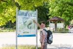 Wanderkarte am Maisental Parkplatz.
