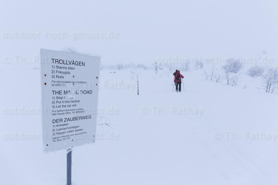 Backcountry-Skitour Nipfjället.