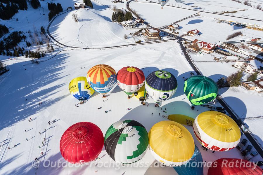 Ballons aus der Vogelperspektive - ein eher seltenes Erlebnis