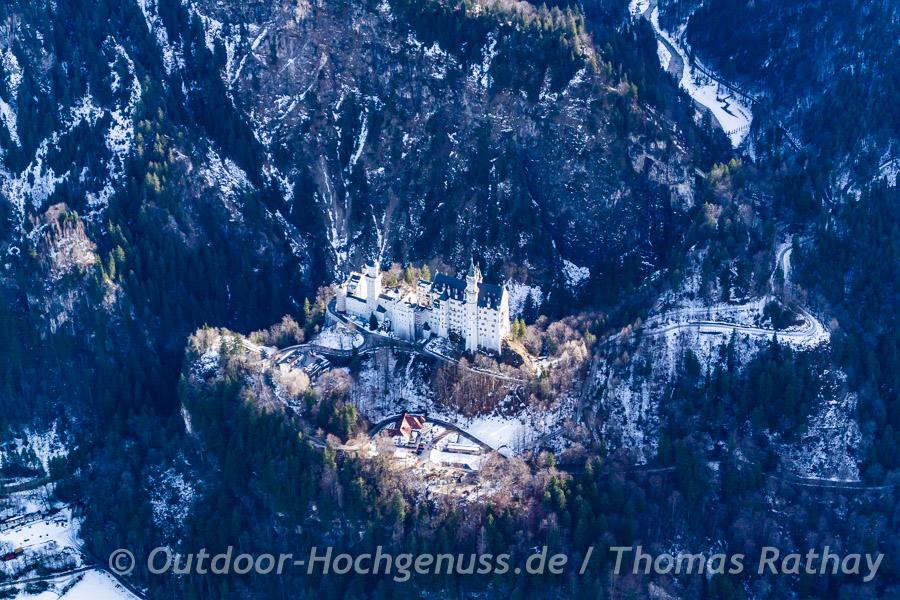 Schloß Neuschwanstein von oben