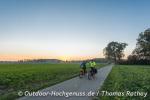 Fast geschafft! Sonnenuntergang im Donautal