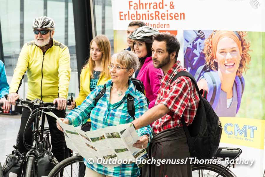 Fototermin auf der CMT - *Fahrrad- und ErlebnisReisen mit Wandern*