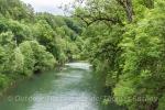 Paddeln auf der jungen Donau am Fusse der Schwäbischen Alb.