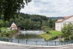 Auch hier wird der Fluss schonend zur Energiegewinnung genutzt.
