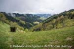 Die Wolken steigen über dem Harmersbachtal nach oben.