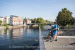 Blick zurück über die Brücken der Stadt Brandenburg an der Havel