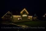 Schön beleuchtet Häuser