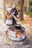 Echter Outdoor Hochgenuss - Lagerfeuerfondue