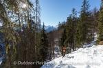 Sonnige Schneeschuhtour rund um den Schmuckenstein