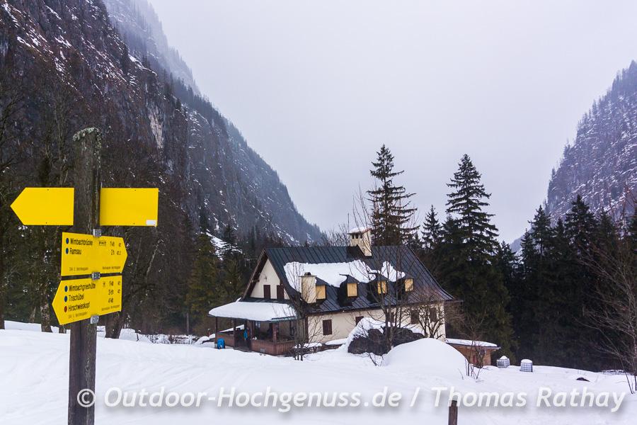 Schneeschuhtour im Wimbachtal