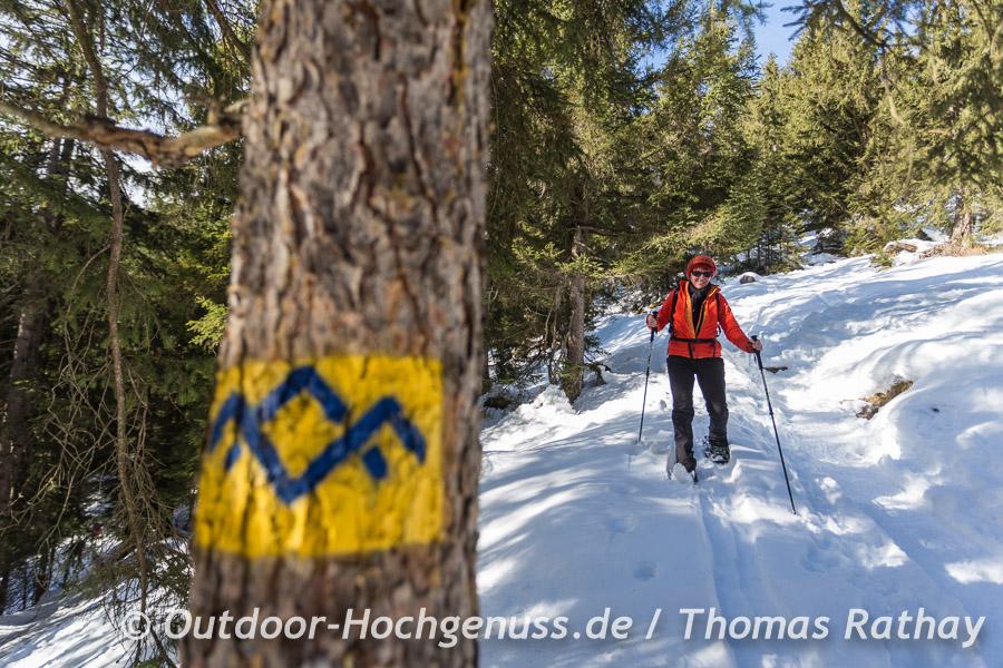 Schneeschuhtour zum Hirschkaser