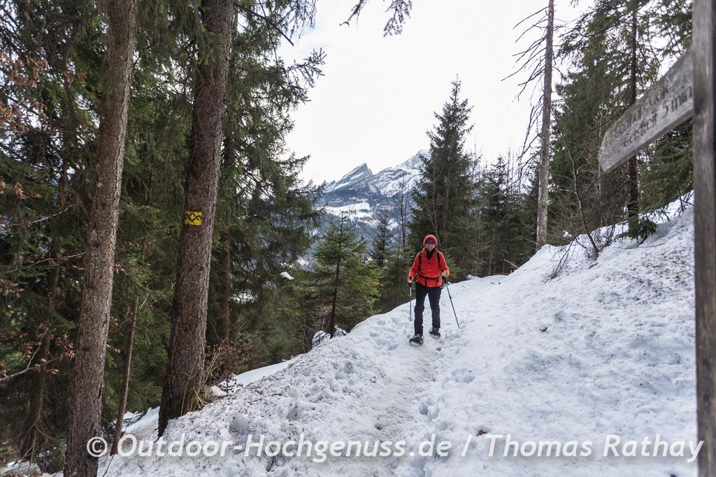 Schneeschuhwanderung im Berchtesgadener Land