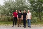 Ein starkes Team - die drei Owener Whisky-Erzeuger und Whisky-Botschafterin Angelika Weis.