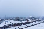 Konstanzer Weihnachtsmarkt im Schneegestöber