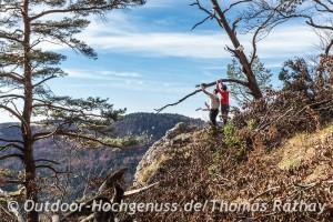 Aussicht am steilen Abgrund