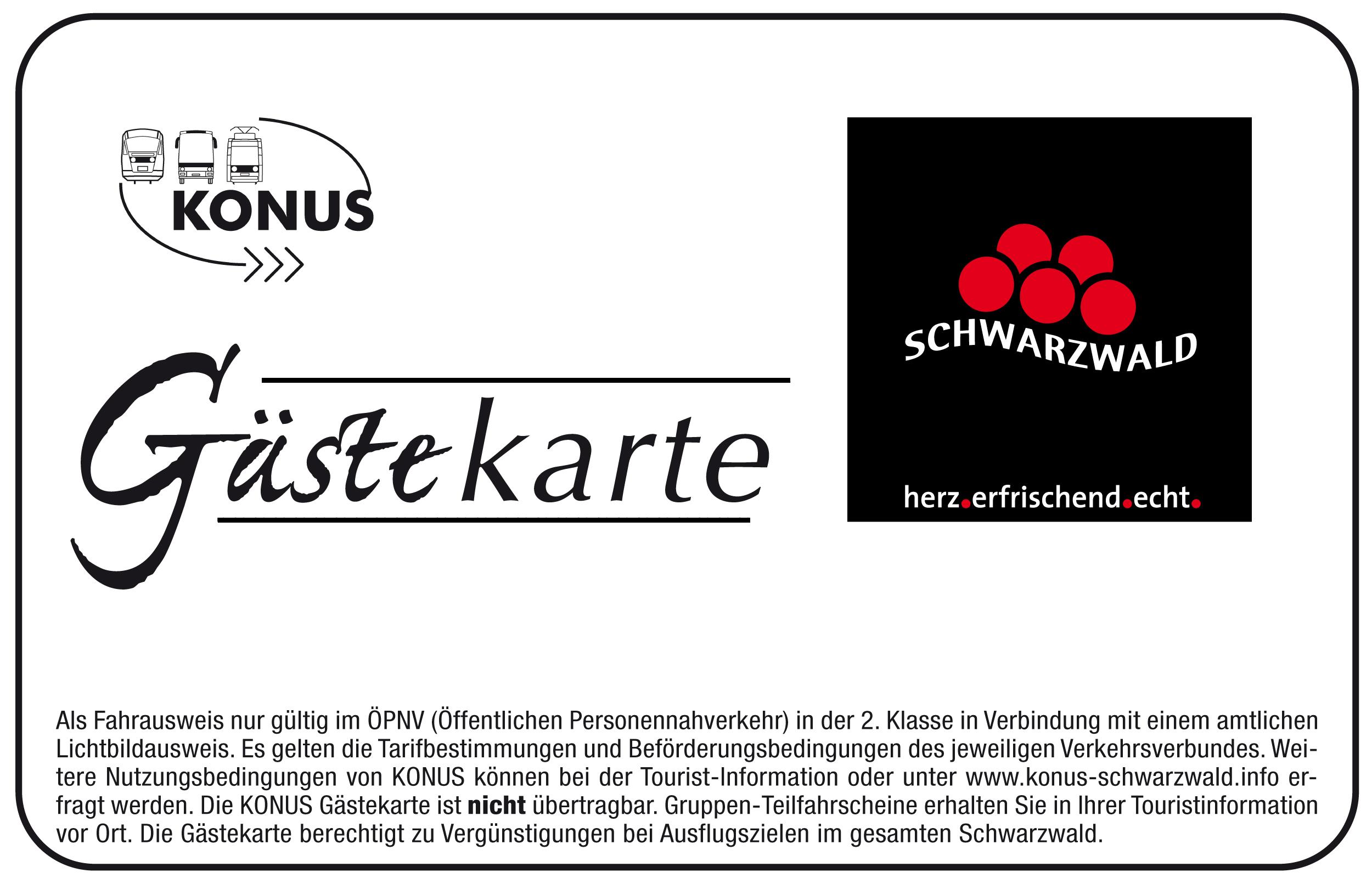 KONUS-Gästekarte Schwarzwald, © STG