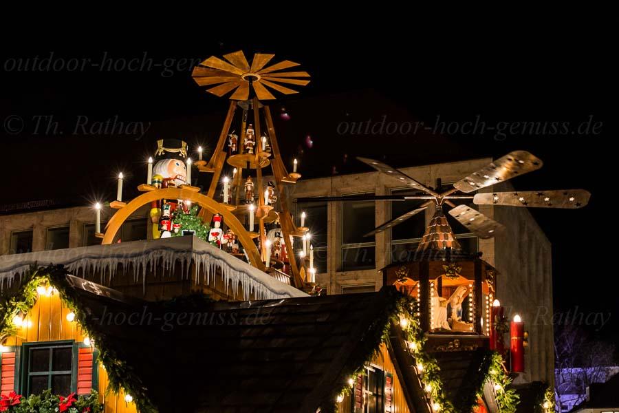 Abendstimmung auf dem Stuttgarter Weihnachtsmarkt