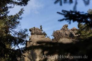 """Toller Blick zum """"Nonnenfelsen"""" im Zittauer Gebirge, mit tollem Ausblick auf die """"Jonsdorfer Felsenstadt"""""""