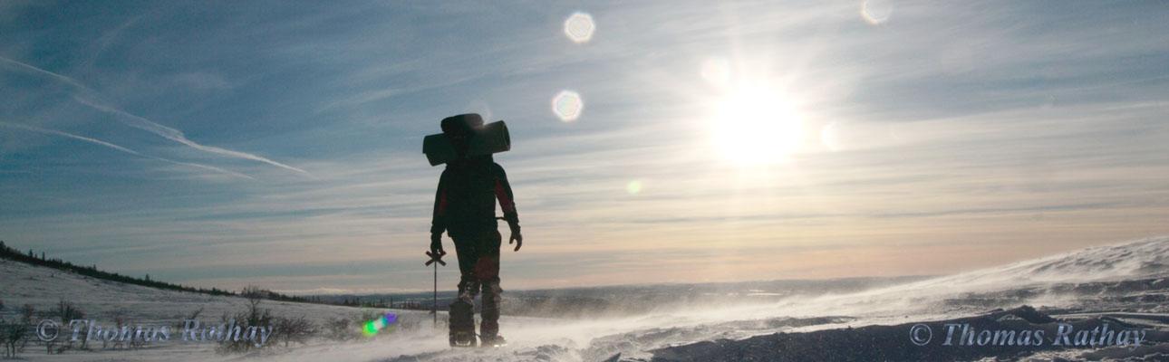Winterliche Schneeschuhtour in Schweden