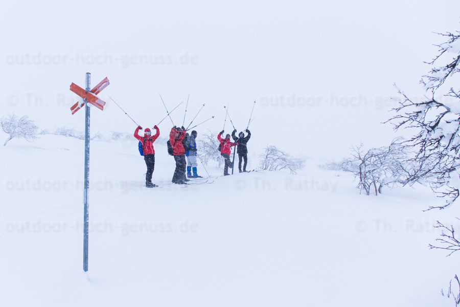 Backcountry-Skitour vom Nipfjäll zum Idrefjäll.