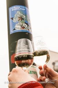 Wein und Mandeln harmonieren bestens auf dem Pfälzer Mandelpfad.