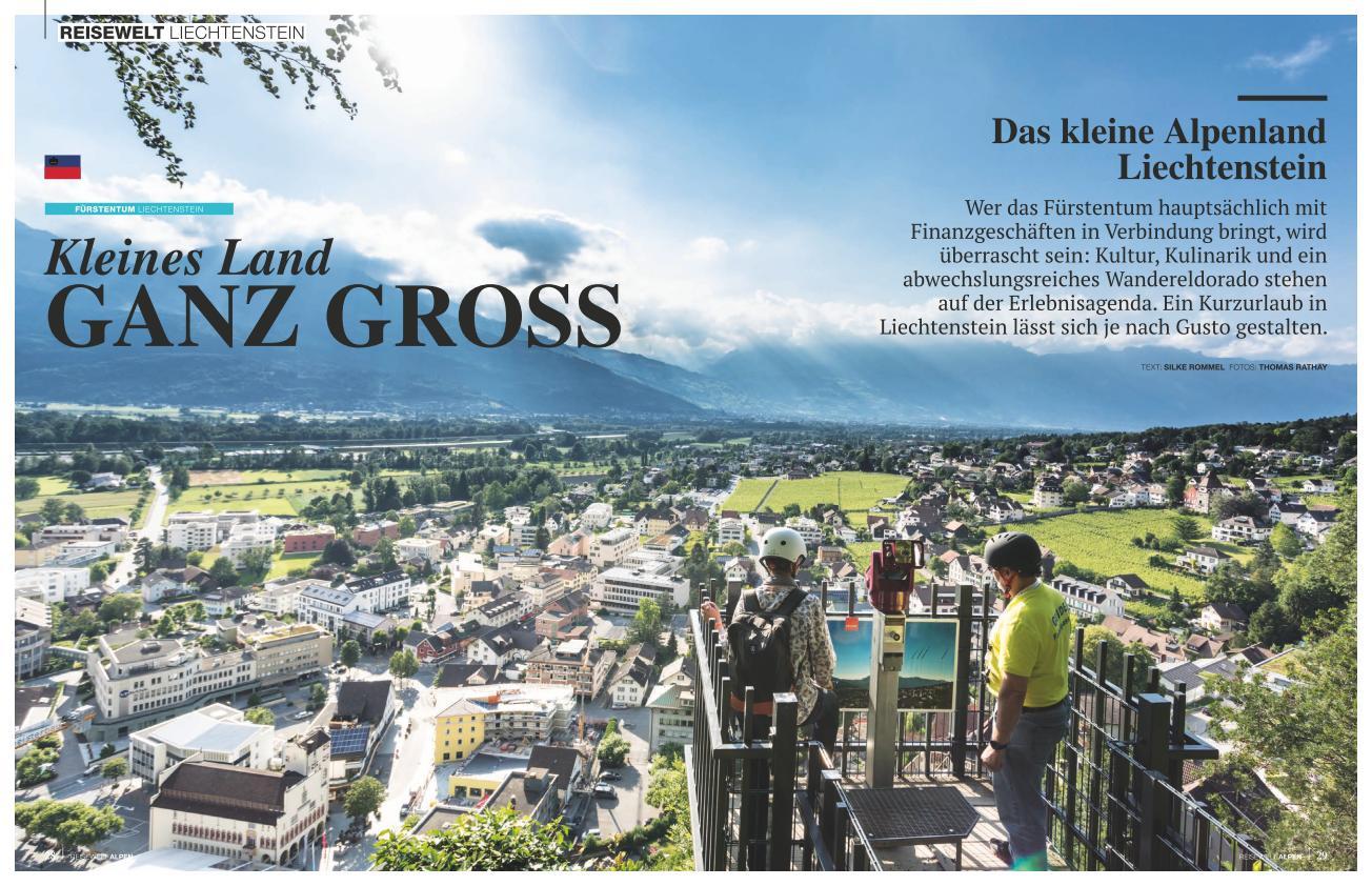 *Reisewelt ALPEN Magazin* - 03/18