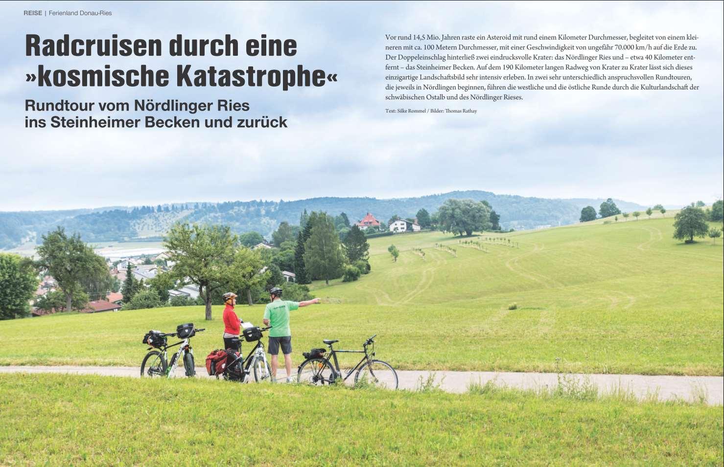 Ferienland Donau-Ries und die Ostalb mit dem Fahrrad
