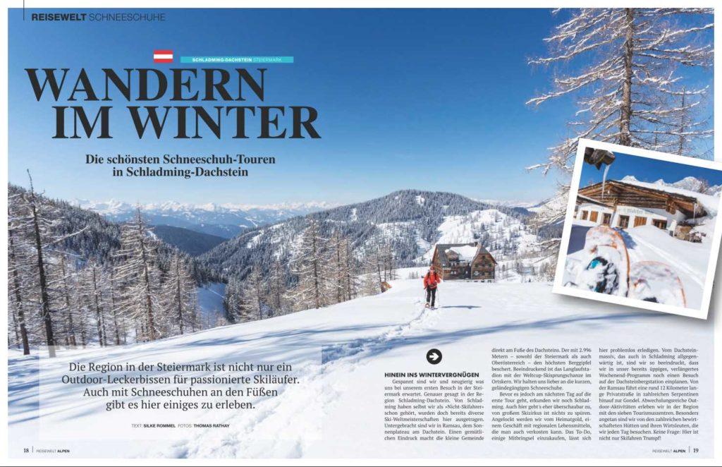 *Reisewelt ALPEN Magazin* 01/19