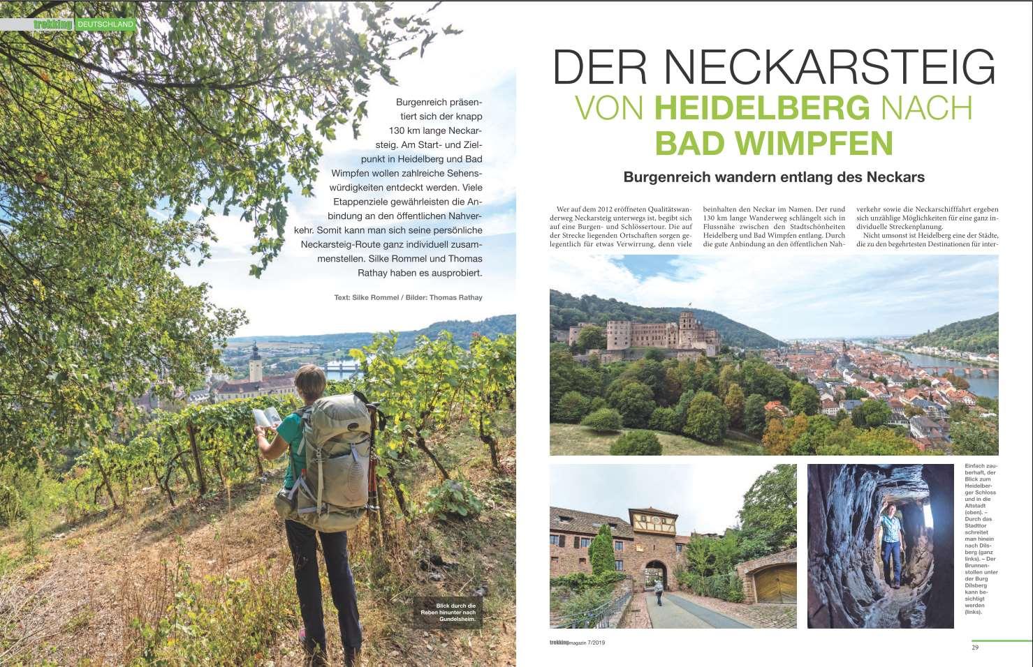 Neckarsteig für das *Trekking Magazin*.