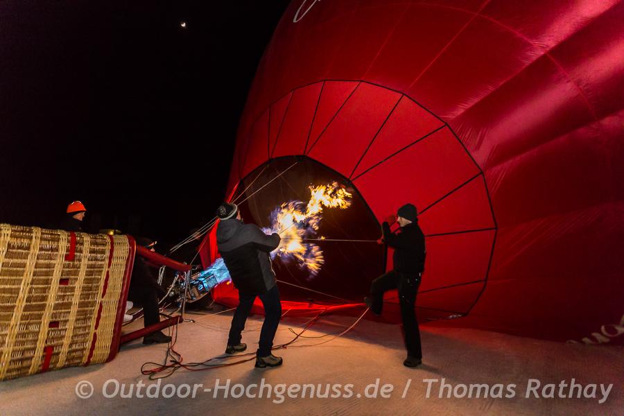 Ballonglühen im Tannheimertal