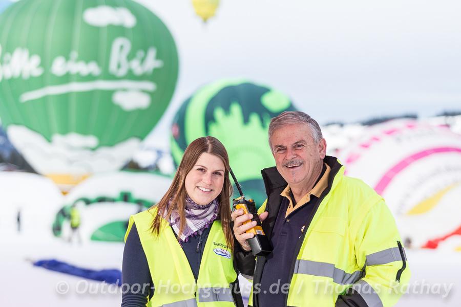 Die Organisatoren des 23. Internationalen Ballonfestivald im winterlichen Tannheimertal