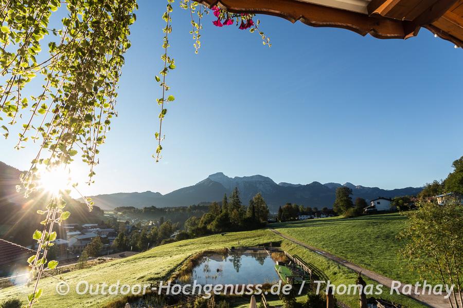 Sonne und Alpenblick in Berchtesgaden