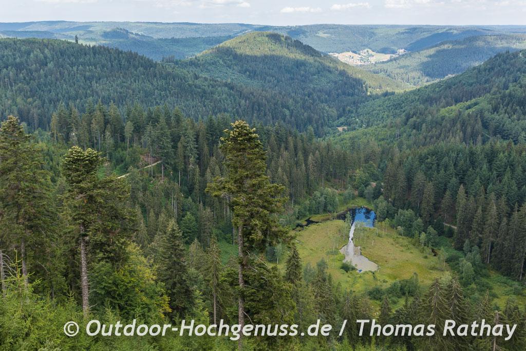Blick auf den Ellbachsee auf der Wanderung zum nächsten Trekking-Camp.