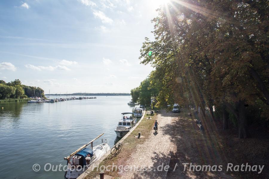 Fischbrötchen an der Havel im Havelland