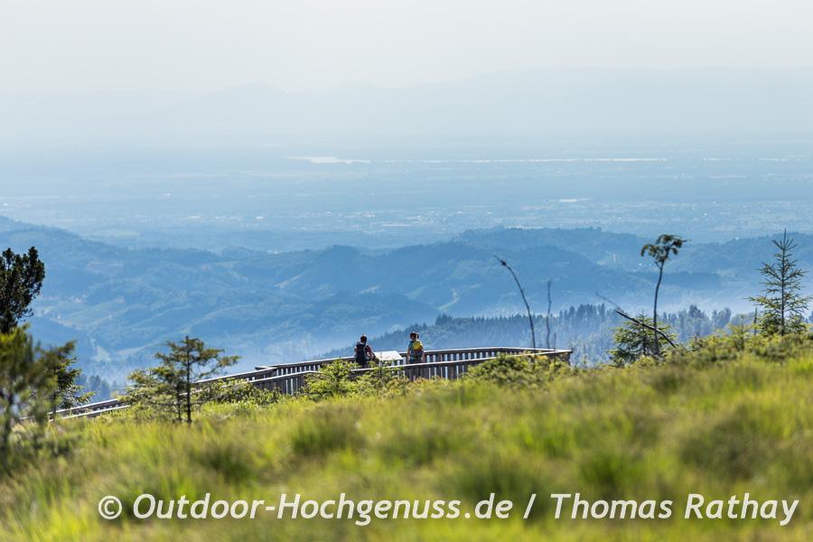 Wahnsinnsblick vom Plateau des Schliffkopf.